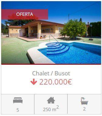 Inmobiliaria Alicante chalet en venta en Busot