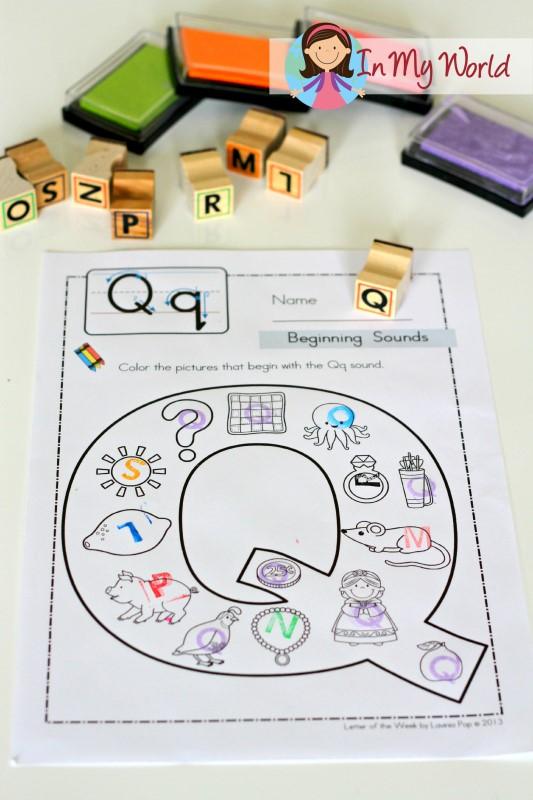 Preschool Letter Q In My World