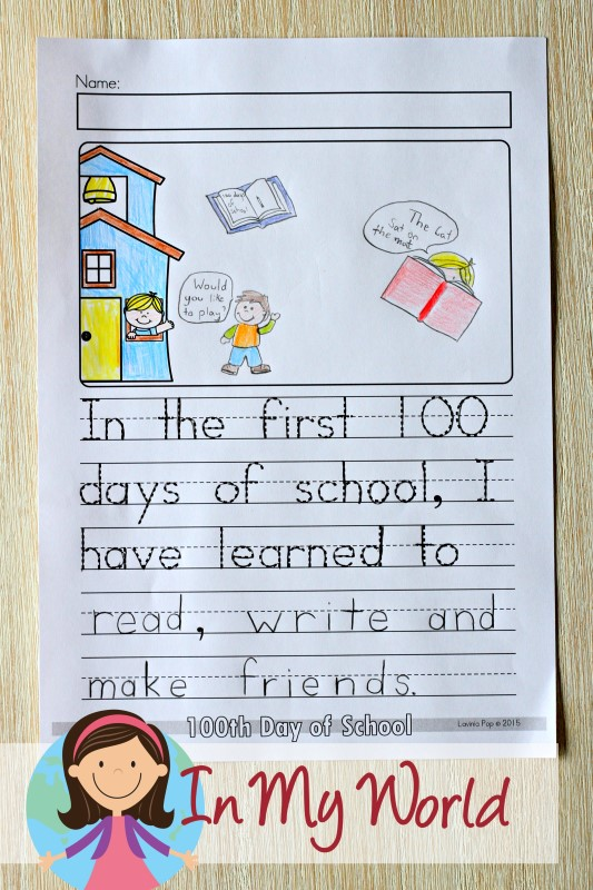 100th Day Of School Worksheets And Activities In My World
