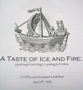 A Taste of Ice and Fire