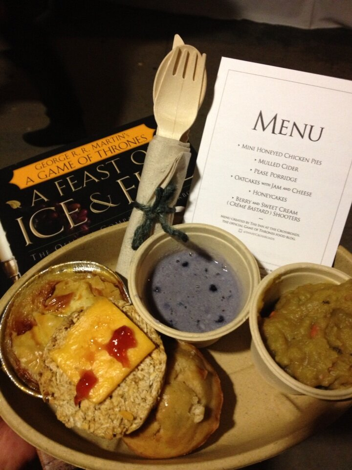menu and foods from Take the Black