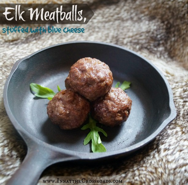 Elk meatballs, stuffed with blue cheese. From the royal feast table at King's Landing. #GameofFood