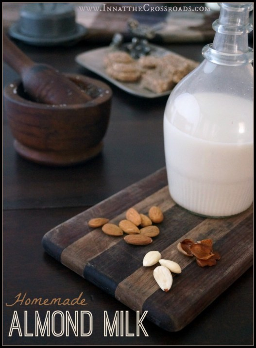 homemade almond milk