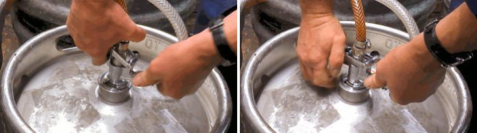How to change an InBev keg of Beer2