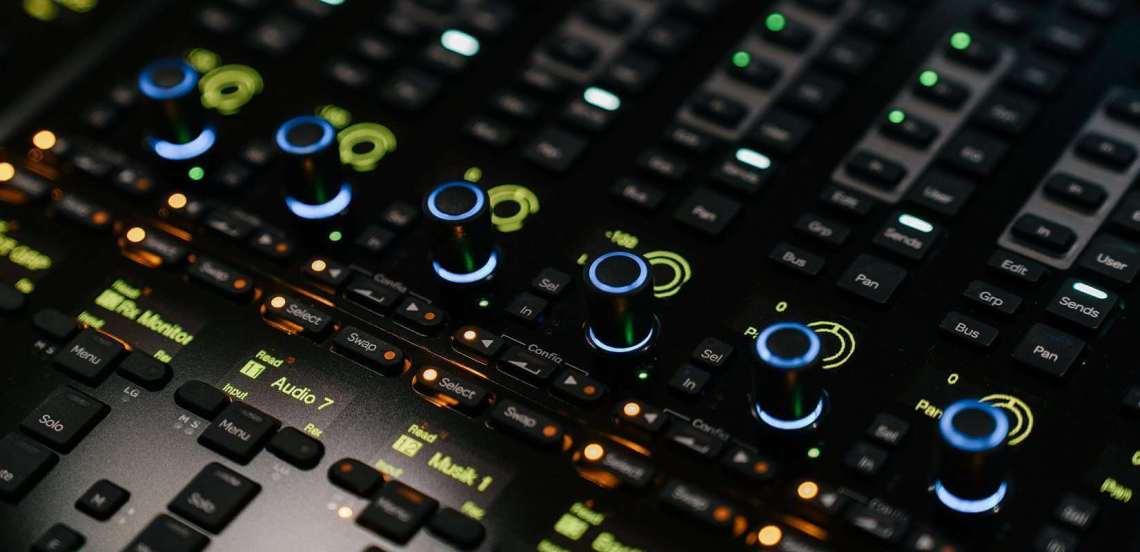 Tonstudio Mischpult S6 Closeup