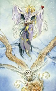 The High Priestess from The Shadowscapes Tarot