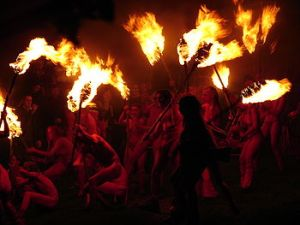 Photo taken from the Beltane Fire Festival page on Wikipedia.