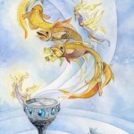 Ace of Cups from The Shadowscapes Tarot by Stephanie Pui-Mun Law