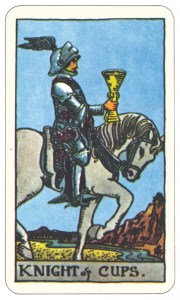 Knight of Cups from Rider Waite Smith (Dover edition)