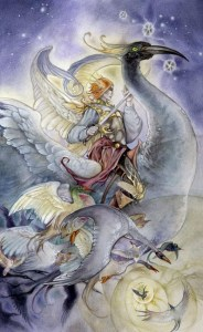 Knight of Swords from The Shadowscapes Tarot by Stephanie Pui-Mun Law