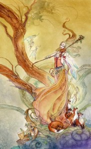 Page of Wands from The Shadowscapes Tarot by Stephanie Pui-Mun Law