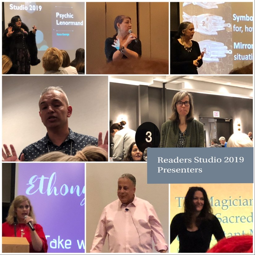 A collage of all the instructors from the classes I took. This includes Divination Day, Readers Studio proper, a study group, and an incubator.