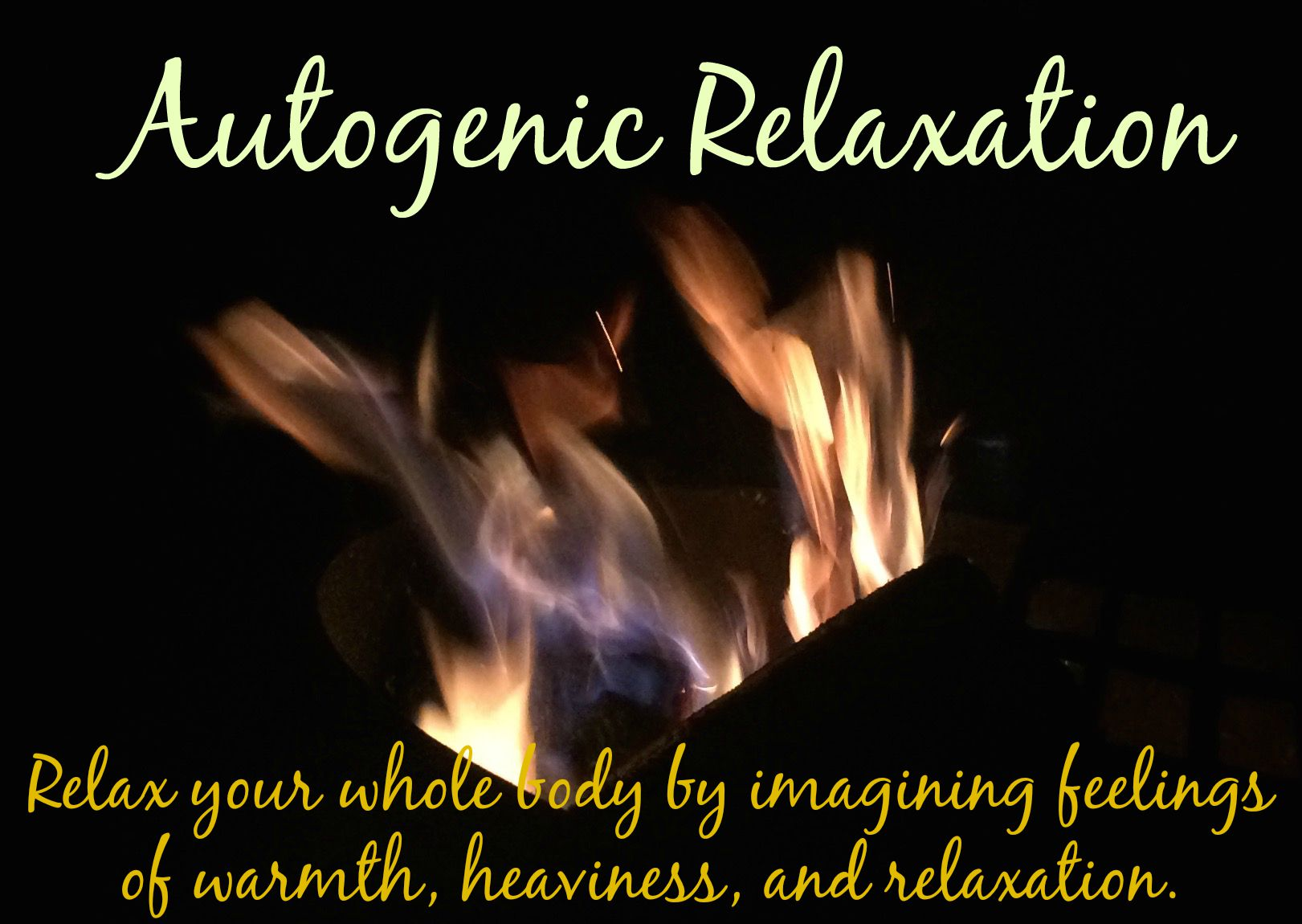 Autogenic Relaxation Scripts Free Relaxation Scripts