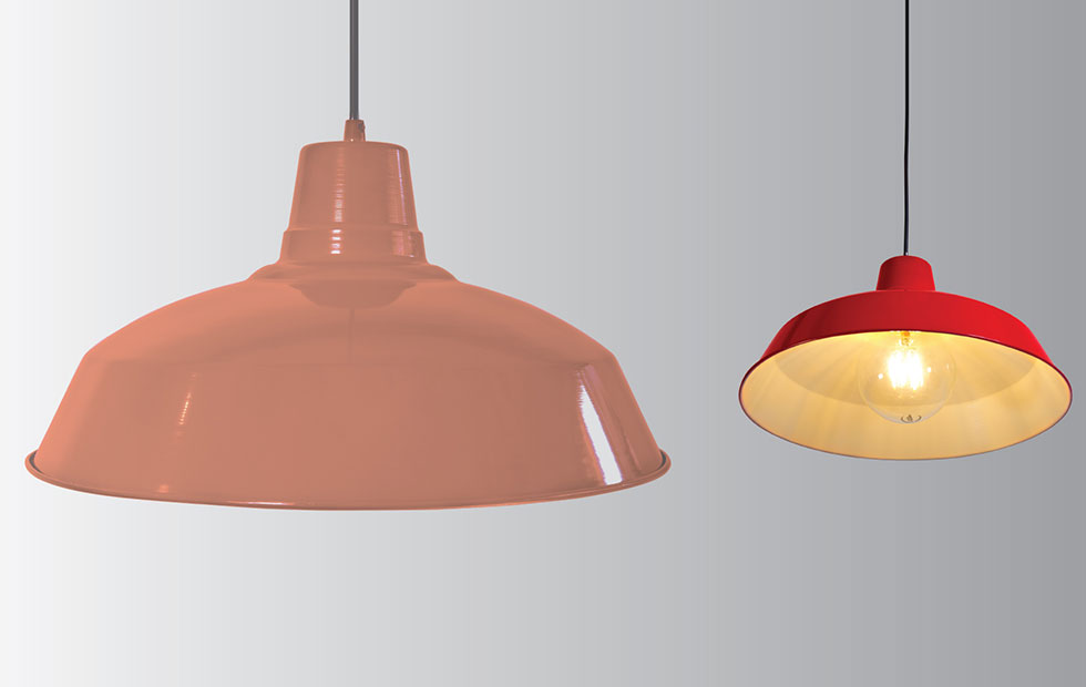industrial in lighting and home decor
