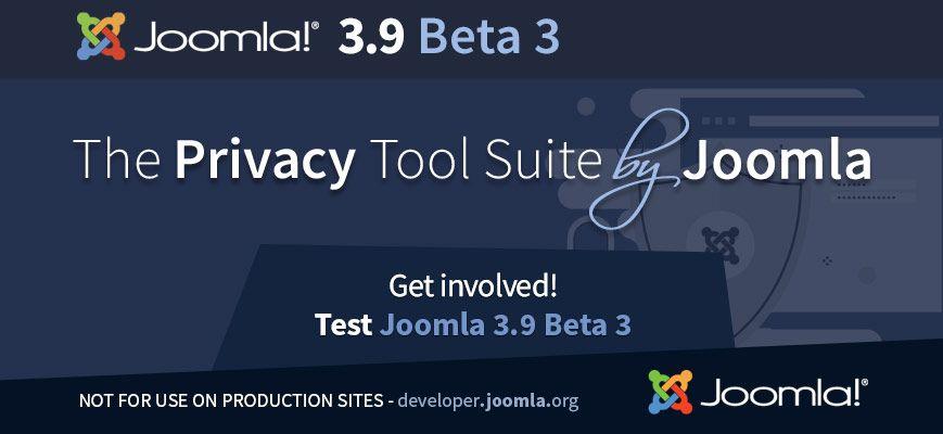 Joomla! 3.9 beta