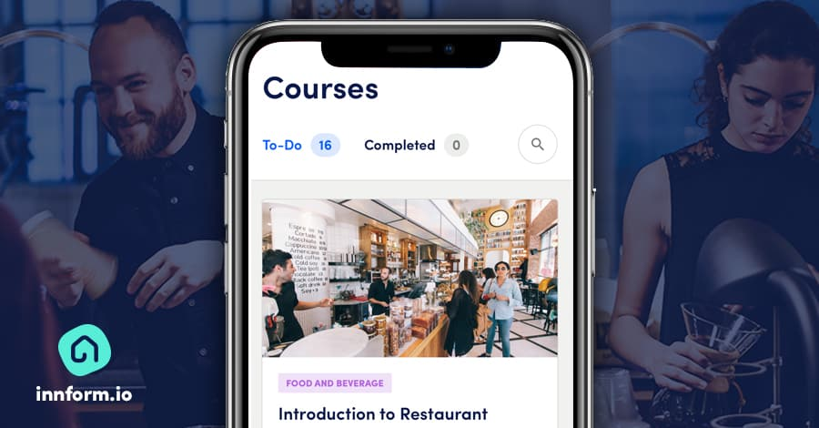 hospitality training software by elearning duo Seb Azzo