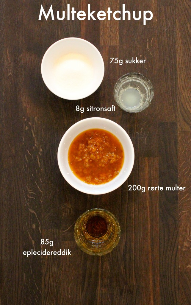Ingredienser multeketchup