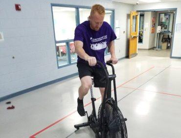 Jacob Demonstrating Power Production on Assault Bike