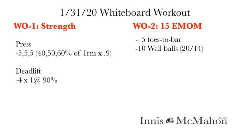 Workout Routine for January 31st