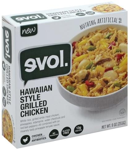 Evol Hawaiian Style Grilled Chicken 9 Oz Nutrition Information