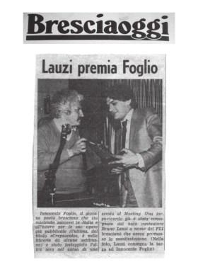 Lauzi premia Foglio - Bresciaoggi