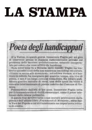Il poeta degli Handicappati - La Stampa