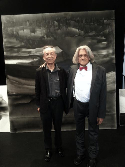 Innocente Foglio con Gao Xingjian Nobel della letteratura 2000