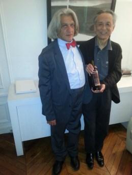 Innocente Foglio con il Premio Nobel Gao Xingjian 2