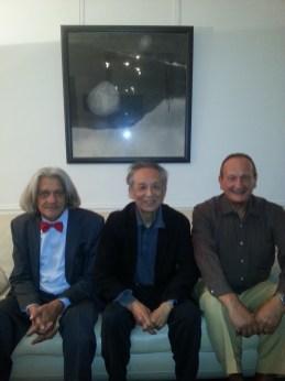 Innocente Foglio con il Premio Nobel Gao Xingjian ed il Generale Giuseppe Uzzo