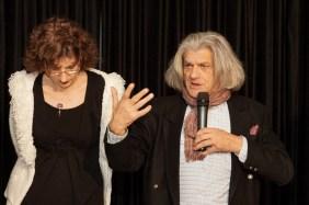 La poetessa Roberta Degl'Innocenti con il poeta Innocente Foglio