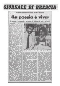 La poesia è viva – Giornale di Brescia