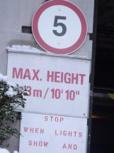 max height sign