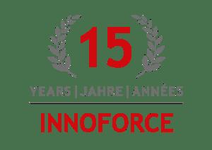 INNOFORCE 15 Years anniversary badge