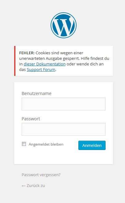 Gelöst: Cookie-Probleme beim WordPress-Login