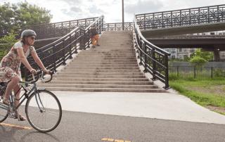 wide bike trail