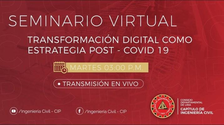 Seminario Virtual: La transformación digital como estrategia contra el COVID 19