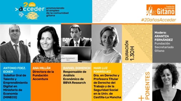 La transformación digital del mercado laboral y los grupos vulnerables.  Webinar #20añosACCEDER