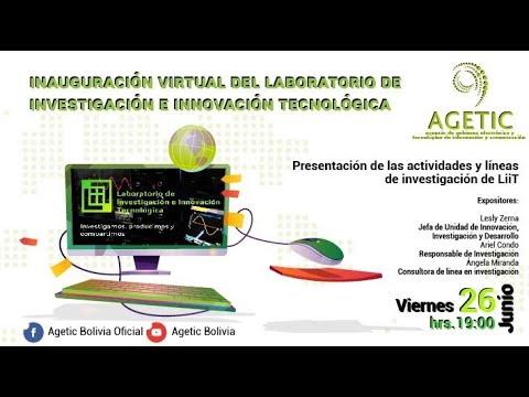Inauguración Virtual del Laboratorio de Investigación e Innovación Tecnológica