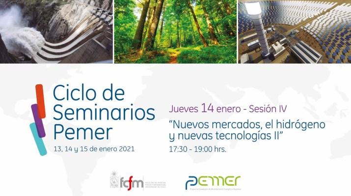 """Ciclo de Seminarios Pemer. """"Nuevos mercados, el hidrógenos y nuevas tecnologías II"""""""