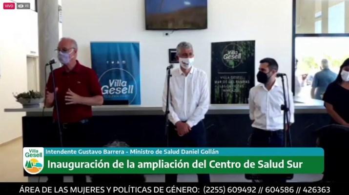 Conferencia de Prensa con el Ministro de Producción, Augusto Costa y el intendente Gustavo Barrera