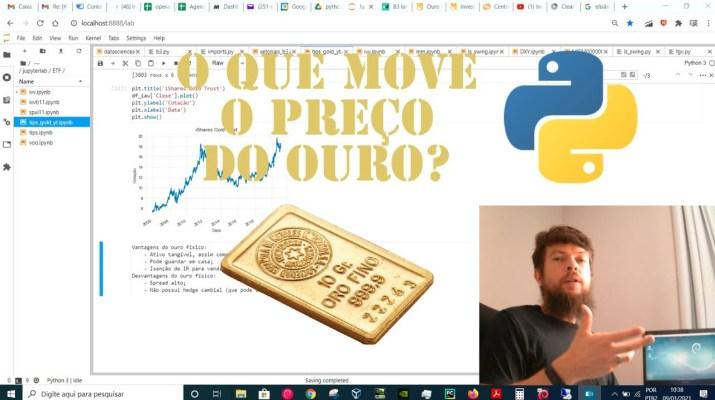 O QUE MOVE O PREÇO DO OURO | Investimentos com Inteligência Artificial e Python #27