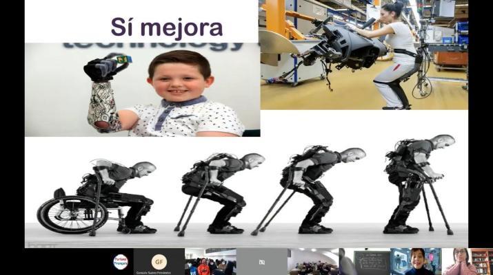 """Carmen Sarabia: Inteligencia Artificial, cerebro y cómo la Biotecnología nos ayuda. IES """"La Granja""""."""