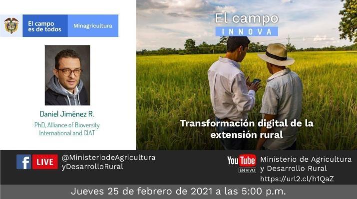 #ElCampoInnnova con la transformación digital de la extensión rural