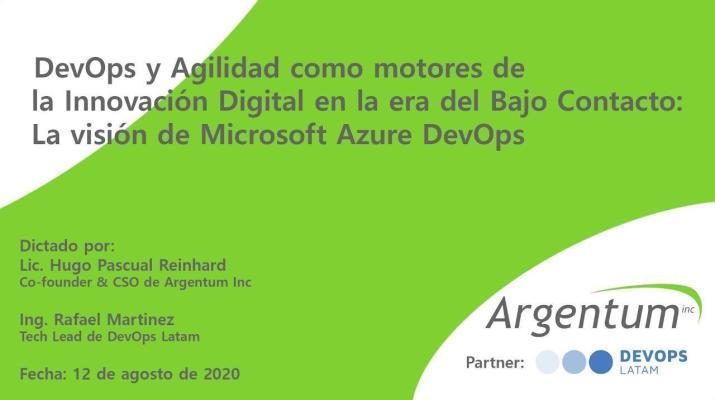 DevOps y Agilidad como motores de la Innovación Digital: la visión de Microsoft Azure DevOps