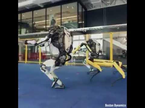 Un robot bailando, la gran innovación tecnológica