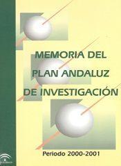 Memoria del Plan Andaluz de Investigación 2000-2001