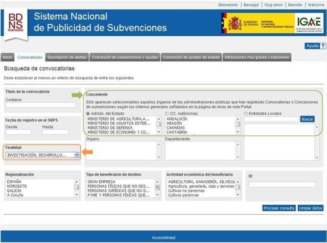 Sistema Nacional de Publicidad de Subvenciones