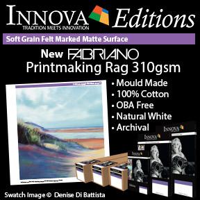 New Fabriano Printmaking Rag 310gsm   Innova Editions   Inkjet Fine Art Paper