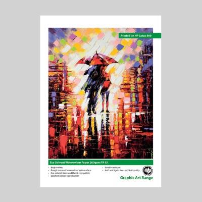 Innova Eco Solvent Watercolour Paper 260gsm IFA 93 Swatch | Eco Solvent Fine Art Paper