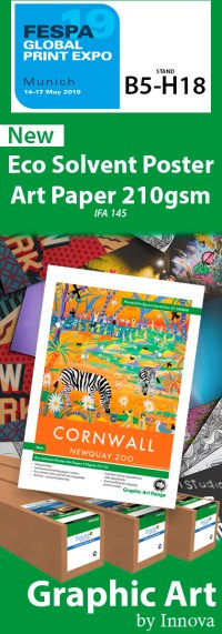 New Eco Solvent Poster Art Paper 210gsm (IFA 145) at FESPA 2019